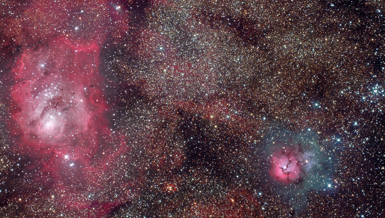 lagoon trifid nebula - photo #41